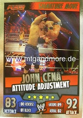 Slam Attax Rumble - John Cena Attitude Adjustment - Signature Move
