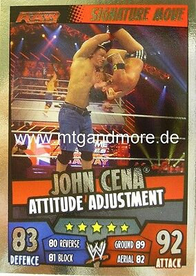 Slam Attax Rumble - John Cena Attitude Adjustment - Signature Move