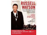 Russell Watson Tickets - 2 x Tickets for Sale Manchester Stalls Face Value