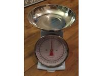 Sainsburys kitchen scale duck egg blue and chrome new