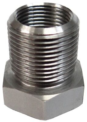 1/2-28 ID to 5/8-24 OD Threaded Adapter - Stainless Steel - Free Shipping