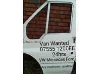 VW MERCEDES FORD VAUXHALL FRENCH VANS DAMAGED WANTED