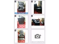 Black Lazy boy reclining chair Leather style