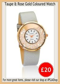 Taupe & Rose Gold Coloured Watch