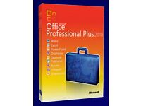 GENUINE MICROSOFT OFFICE SUITE 2010 PROFESSIONAL PLUS NEW ON DISC WITH LICENCE FOR LIFE 32/64 BIT