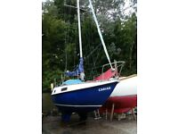 23' POCKET SAILING BOAT WITH SUZUKI OUTBOARD ENGINE