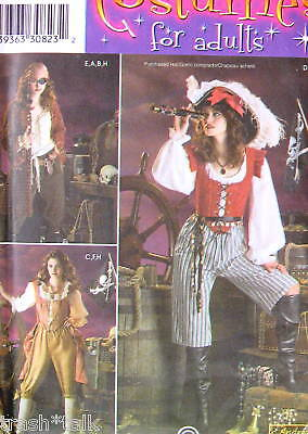 Halloween Costume Lady Pirate pattern sz 6 8 10 12 Andrea Schewe