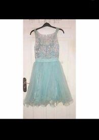 Short blue/sparkly formal dress. Size 8