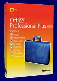 GENUINE MICROSOFT OFFICE SUITE 2010 PROFESSIONAL PLUS NEW ON DISC WITH LCIENCE FOR 3 USERS 32/64 BIT