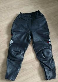 IXS ladies teens leather trousers worn once