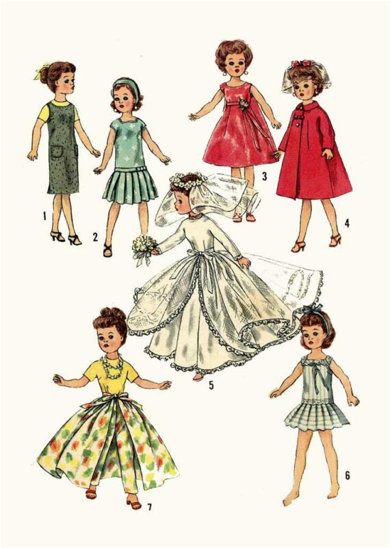 """Doll Clothes Pattern 2744 for 10 1/2"""" Revlon Toni Ginger Cindy Adams Missy Sue"""
