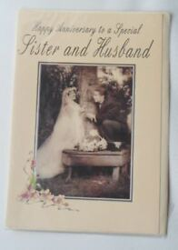Sister & Brother In Law / Husband Wedding Anniversary Cards - Medium