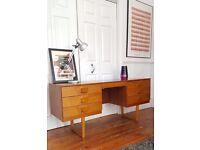Vintage Mid Century Retro Teak Desk Storage