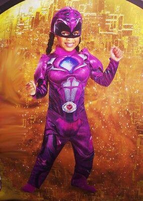 Girls Power Rangers PINK RANGER Toddler Purple Halloween Costume 2T 3T 4T NEW - Girl Power Ranger Halloween Costume