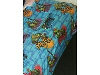 TURTLES SINGLE BED COVER WITH CURTAINS