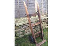 **Sack barrow** Antique Trolley Cart Wood Wooden Garden Decoration #