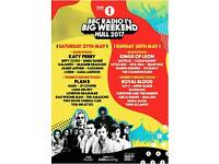 TWO Sunday tickets+park and ride Radio1 BIG WEEKEND