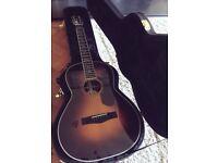 Fender PM-2E Paramount Deluxe Parlour Electro Acoustic - Sunburst With Case