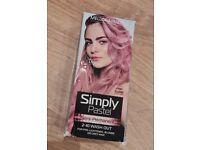 Free pink wash out hair dye