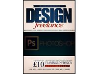 FREELANCE GRAPHIC DESIGNER - CHEAP POSTER, LEAFLET, BANNER, BUSINESS CARD DESIGNS AND MORE