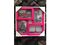 "4 Pictures Bright Photo Frame 6"" x 4"" Fuschia"