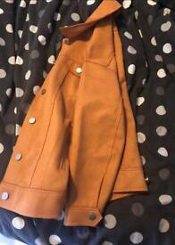 Missguided Oversized bonded suedette trucker coat size 6 new with tags