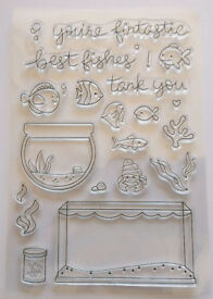 Fishes Fish Tank/Bowl Clear Rubber Stamps Silicone - BNIP & Free P&P
