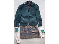 Kilt outfit - Kilt with Prince Charlie jacket and dress sox