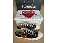 Comme Des garçons play converse size 8 only worn once
