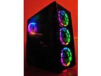 Ultra fast gaming PC RGB 4GHz i7 6700k GTX 1060 6GB 16GB DDR4 RAM 256GB NVMe 1TB