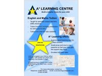 A* Learning Centre tuition for kids 5-18 year olds. Eng/Maths/Science/ICT.