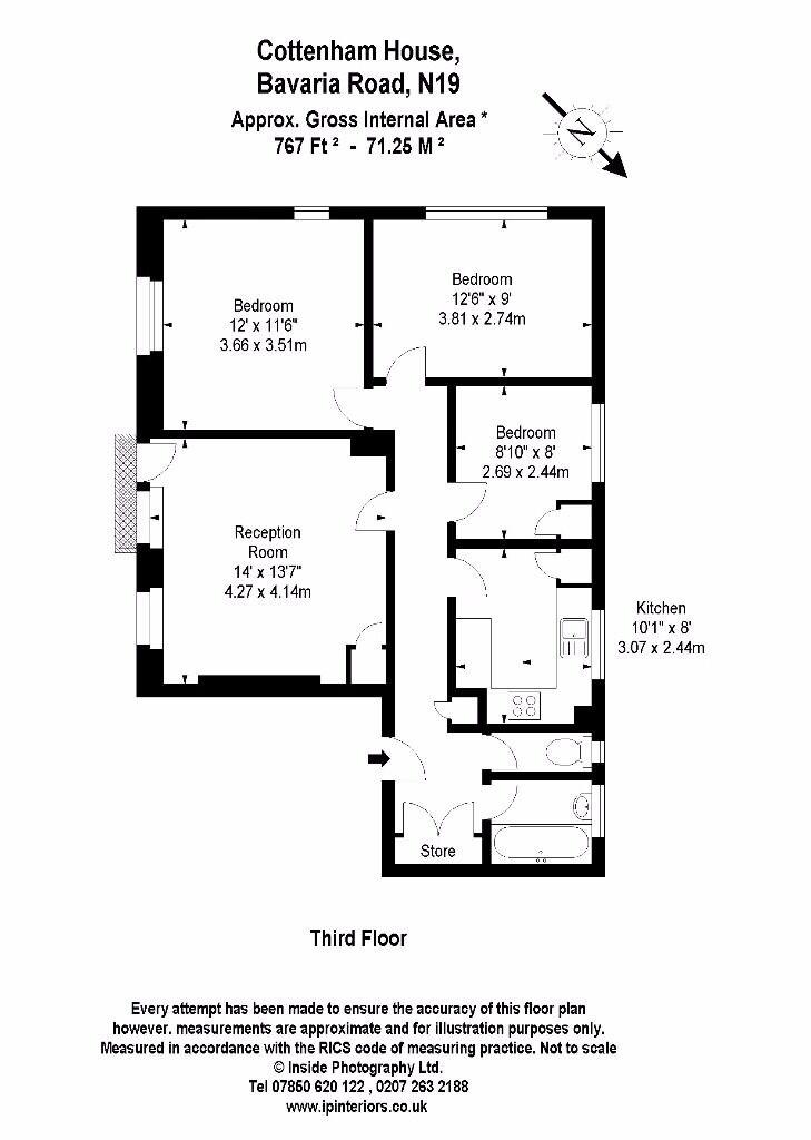 3/4 BED TOP FLOOR FLAT ALL DOUBLE BEDROOMS