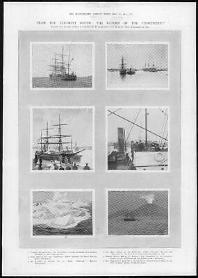 1904 Antique Print - MARITIME Antarctic Expedition Captain Scott Discovery (221)