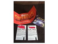 2 sun Alton towers tickets, Friday 9th september