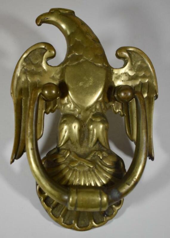 Vintage Virginia Metalcrafters Large Brass Eagle Door Knocker Patriotic Decor