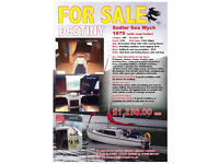 19ft Sea Wych Sailboat on road trailer