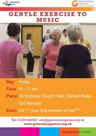 Exercise to music