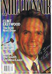 Clint Eastwood Autog Mag Cover To Ivan Kasiurak & Envelope London Ontario image 1