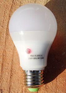 Bombilla led con sensor crepuscular dia noche 9w e27 luz for Bombilla sensor crepuscular