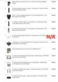 Various stove accesories & flues BRAND NEW