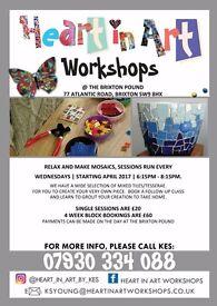 Beginners Creative Mosaic Making every Wednesday evening