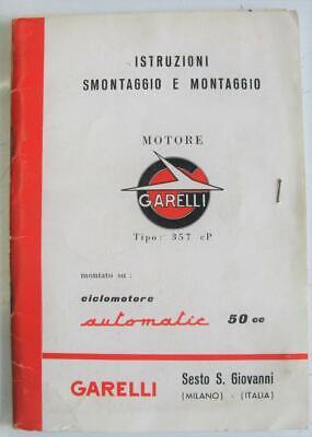 Garelli 357cP Automatic 50cc 1965 #5,000-2.65-LGB Engine Owners Handbook Italian