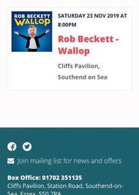 Rob Beckett Tickets x 2 at Cliffs Pavillion