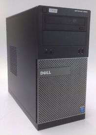 WINDOWS 10 DELL 3020 INTEL CORE i3-4150 -COMPUTER TOWER - 4GB RAM - 500GB - PC