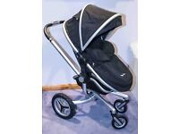 Silver Cross Surf 2 pushchair and carrycot (black) - pristine condition