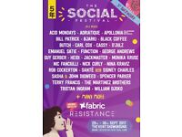 The Social Festival Weekend (no camping) Ticket