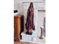 Wood carving Virgin Mary