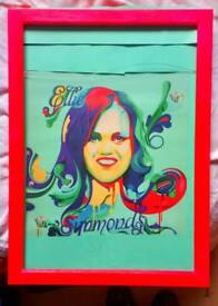 Ellie Simmonds poster lovingly framed