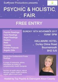 Psychic & Holistic Fair Bournemouth - FREE ENTRY