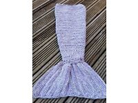 Mermaid tail blanket 0-12 months (others available on request)